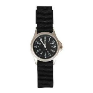 Military Field 24 Hour Watch Black StrapBlack Face